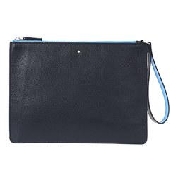 万宝龙 大班 软皮粒纹系列 MY OPPICE 手包  #蓝色&土灰色