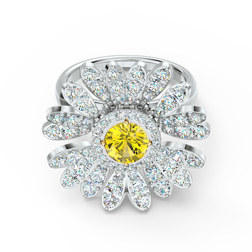 ETERNAL FLOWER:RING MOVABLE CZOY/MIX 55