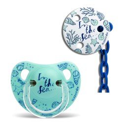 PREMIUM PACIFIER SOOTHER CHAIN 奶嘴链/Blue marine