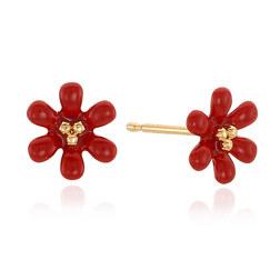 PETIT FLOWER EARRING 耳饰 (红色)