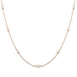[925银] MONO PEARL NECKLACE(ROSE GOLD) 项链