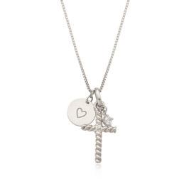 [925银] CROSS X COIN LAYERED NECKLACE(SILVER) 项链