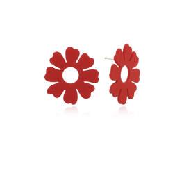 FLEUR FLOWER EARRINGS(RED) 耳饰