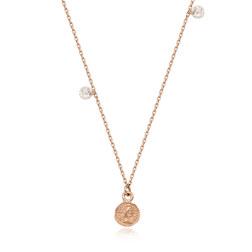 [925银] FEMME CUBIC COIN NECKLACE(ROSE GOLD) 项链