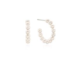 [925银] MONO PEARL HOOP EARRINGS(SMALL) 耳饰
