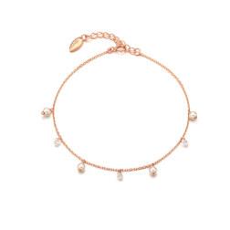 [925银] ILLUSION PEARL BRACELET(ROSE GOLD) 手链