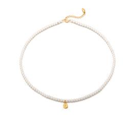 [925银] FEMME COIN PEARL CHOKER NACKLACE(GOLD) 项链