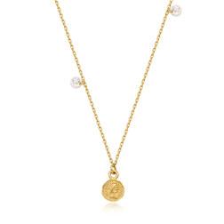 [925银] FEMME CUBIC COIN NECKLACE(GOLD) 项链