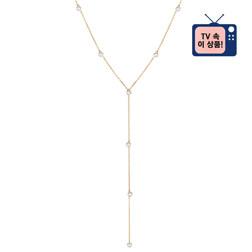 [925银] BRILLANCE Y CHAIN NECKLACE(GOLD) 项链