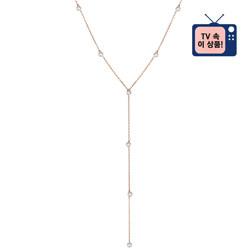 [925银] BRILLANCE Y CHAIN NECKLACE(ROSE GOLD) 项链