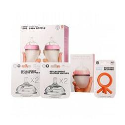 COMOTOMO STARTER KIT SET 婴儿奶瓶 - 粉色
