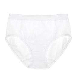 棉混纺三角内裤 白色