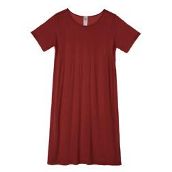 莫代尔宽松款竖琴中长礼服 红色