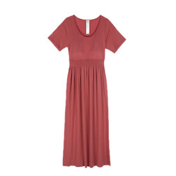 [现代专售] BRA CUP BUILT-IN CAP SLEEVE LONG DRESS 连衣裙 INDI PINK