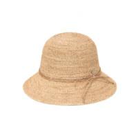 NEW BALOS CIRCLE LOGO RIBBON RAFFIA HAT NATURAL/ NATURAL 帽子