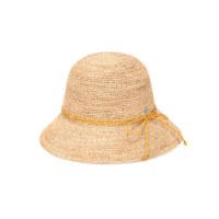 NEW BALOS CIRCLE LOGO RIBBON RAFFIA HAT NATURAL/ 黄色 帽子