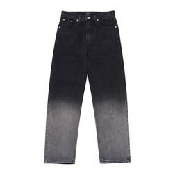 ADLV TWO-TONE GRADIENT DENIM PANTS BLACK 0