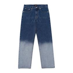 ADLV TWO-TONE GRADIENT DENIM PANTS BLUE 1