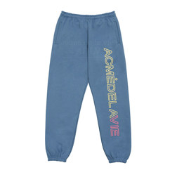 ADLV FAKE EMBROIDERY PRINT PANTS INDIGO BLUE 1