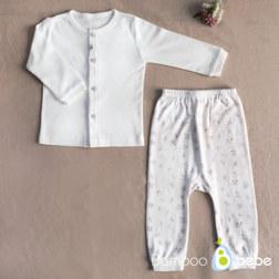 纯竹纤维 儿童内衣长袖 70号(0~6个月)