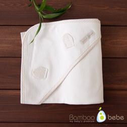 纯竹纤维 乳白色婴儿包被