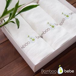纯竹纤维 洗脸毛巾 3张套装