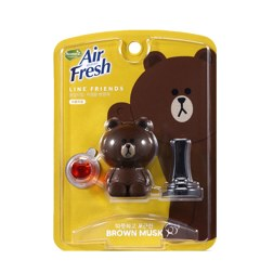 HOMEZ AIR FRESH LINE FRIENDS 车载香水香薰 (布朗熊)
