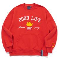 10TH GOOD LIFE SWEAT SHIRT_S_RED