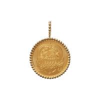 星座吊坠式圆金牌 : 巨蟹座 不配链